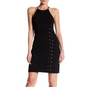NWT🌟PARKER Black Halter Lace Up Midi Dress